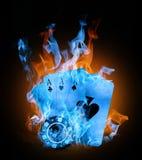 Fuego del color stock de ilustración