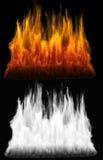Fuego del color rojo y anaranjado Foto de archivo libre de regalías