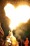 Fuego del corazón Imágenes de archivo libres de regalías