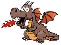 Fuego del dragón de la historieta Foto de archivo