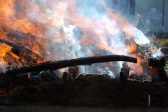 Fuego del edificio Imagen de archivo libre de regalías
