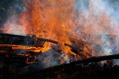 Fuego del edificio Fotografía de archivo libre de regalías