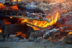 Fuego del edificio Imagen de archivo