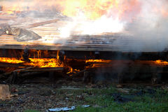Fuego del edificio Fotografía de archivo