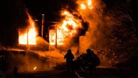 Fuego del edificio Foto de archivo