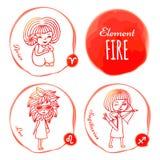 Fuego del elemento del zodiaco libre illustration