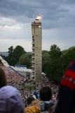 Fuego del festival nacional estonio de la canción Imagen de archivo libre de regalías