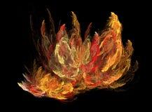 Fuego del fractal Fotos de archivo libres de regalías