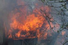 Fuego del granero Fotografía de archivo
