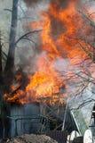 Fuego del granero Imagen de archivo libre de regalías