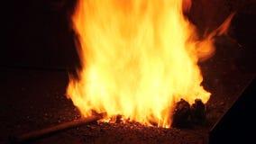 Fuego del herrero almacen de video