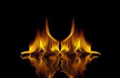 Fuego del infierno Imágenes de archivo libres de regalías