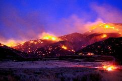 Fuego del Ironwood Imagen de archivo libre de regalías