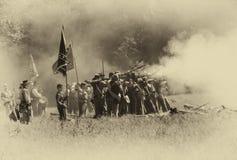 Fuego del voleo de los confederados Imagen de archivo libre de regalías