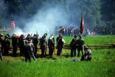 Fuego del voleo de los confederatos Foto de archivo libre de regalías