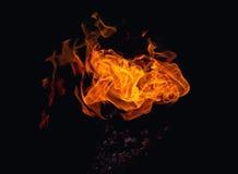 Fuego dinámico brillante Foto de archivo libre de regalías