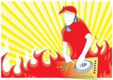 Fuego DJ ilustración del vector