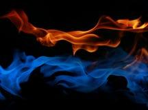 Fuego e hielo Fotografía de archivo
