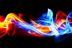 Fuego e hielo Foto de archivo libre de regalías