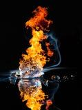 Fuego e hielo Fotografía de archivo libre de regalías