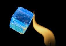 Fuego e hielo BFF Foto de archivo libre de regalías
