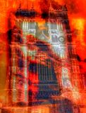 Fuego en Abbey Church Fotografía de archivo libre de regalías