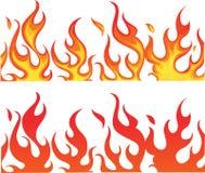 Fuego en blanco Foto de archivo libre de regalías