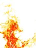Fuego en blanco Imágenes de archivo libres de regalías