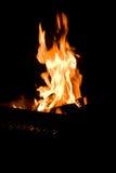 Fuego en brasero Fotografía de archivo