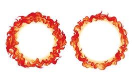 Fuego en círculo ilustración del vector