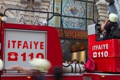 Fuego en Cicek Pasaji Foto de archivo libre de regalías