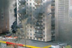 Fuego en ciudad Imagen de archivo