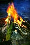 Fuego en el agujero Foto de archivo libre de regalías
