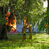 Fuego en el camino 13 del condado Fotografía de archivo libre de regalías