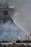 Fuego en el centro turístico de la casa de campo de Cheeca Fotografía de archivo libre de regalías