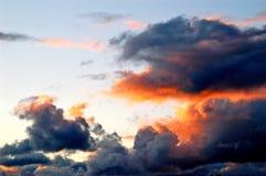 Fuego en el cielo Imágenes de archivo libres de regalías