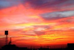 Fuego en el cielo Fotos de archivo libres de regalías