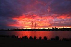 Fuego en el cielo Fotografía de archivo libre de regalías
