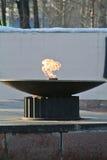 fuego en el cuenco Foto de archivo libre de regalías