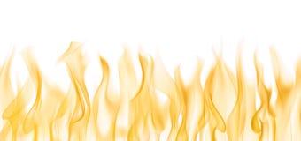 Fuego en el fondo blanco Imagen de archivo libre de regalías