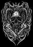 Fuego en el grom Art Illustration ilustración del vector