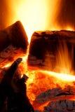 Fuego en el movimiento imágenes de archivo libres de regalías
