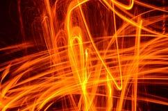 Fuego en el movimiento Imagenes de archivo
