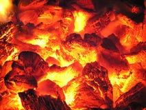Fuego en estufa Imágenes de archivo libres de regalías