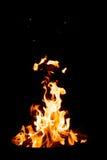 Fuego en fondo negro Imágenes de archivo libres de regalías