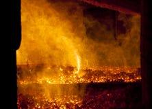 Fuego en horno grande Imagen de archivo libre de regalías
