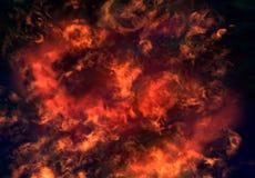 Fuego en infierno Fotografía de archivo libre de regalías