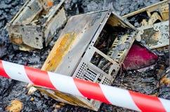 Fuego en la calle Fotos de archivo libres de regalías