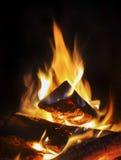Fuego en la chimenea Imagen de archivo