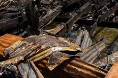 Fuego en la ciudad Fotos de archivo libres de regalías